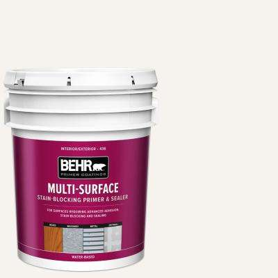 5 gal  White Acrylic Interior/Exterior Multi-Surface Stain-Blocking Primer  and Sealer