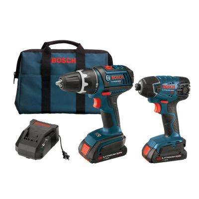 Factory Reconditioned Lithium-Ion Cordless 1/2 in. Drill/Driver and 1/4 in. Impact Driver Combo Kit (2-Tool)