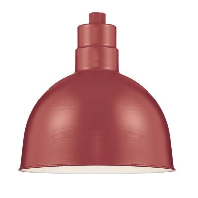 R Series 1-Light 12 in. W Satin Red Outdoor Bowl Shade Pendant
