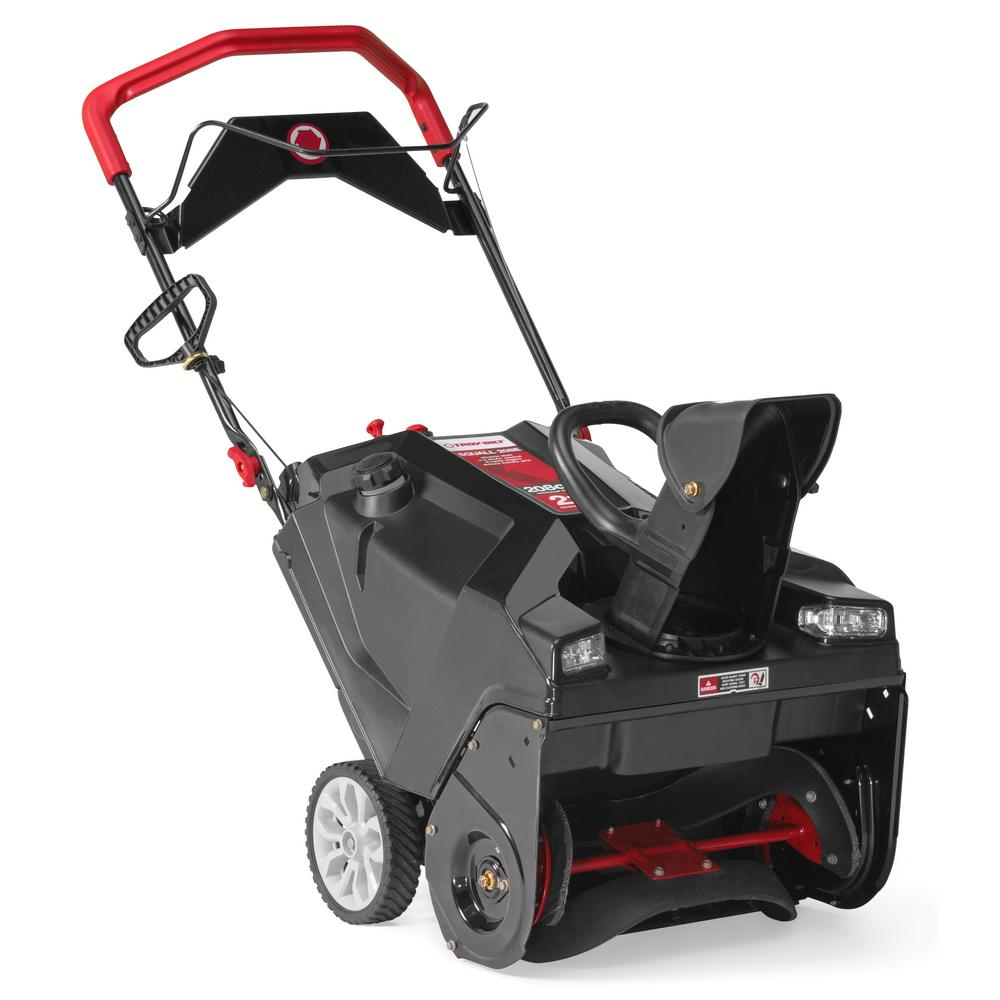 Troy-Bilt Squall 21 in  208 cc Single-Stage Gas Snow Blower with Electric  Start and E-Z Chute Control and Dual-LED Headlights