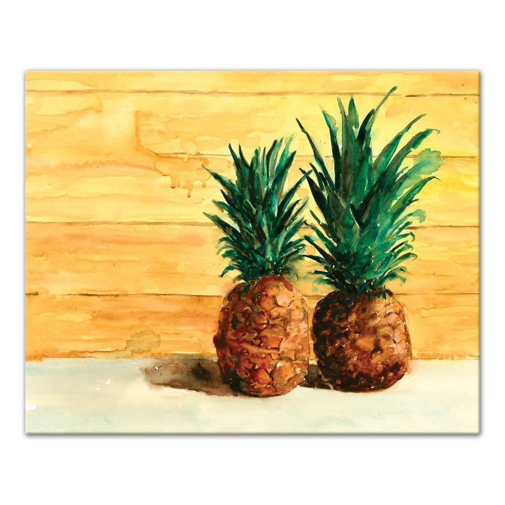 DESIGNS DIRECT 16 in. x 20 in. \'\'Tropical Beached Pineapple Pair ...