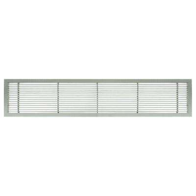 AG10 Series 4 in. x 12 in. Solid Aluminum Fixed Bar Supply/Return Air Vent Grille, Brushed Satin