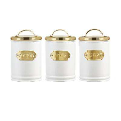 Madison 3-Piece Metal Storage Canister Set with Arched Handle