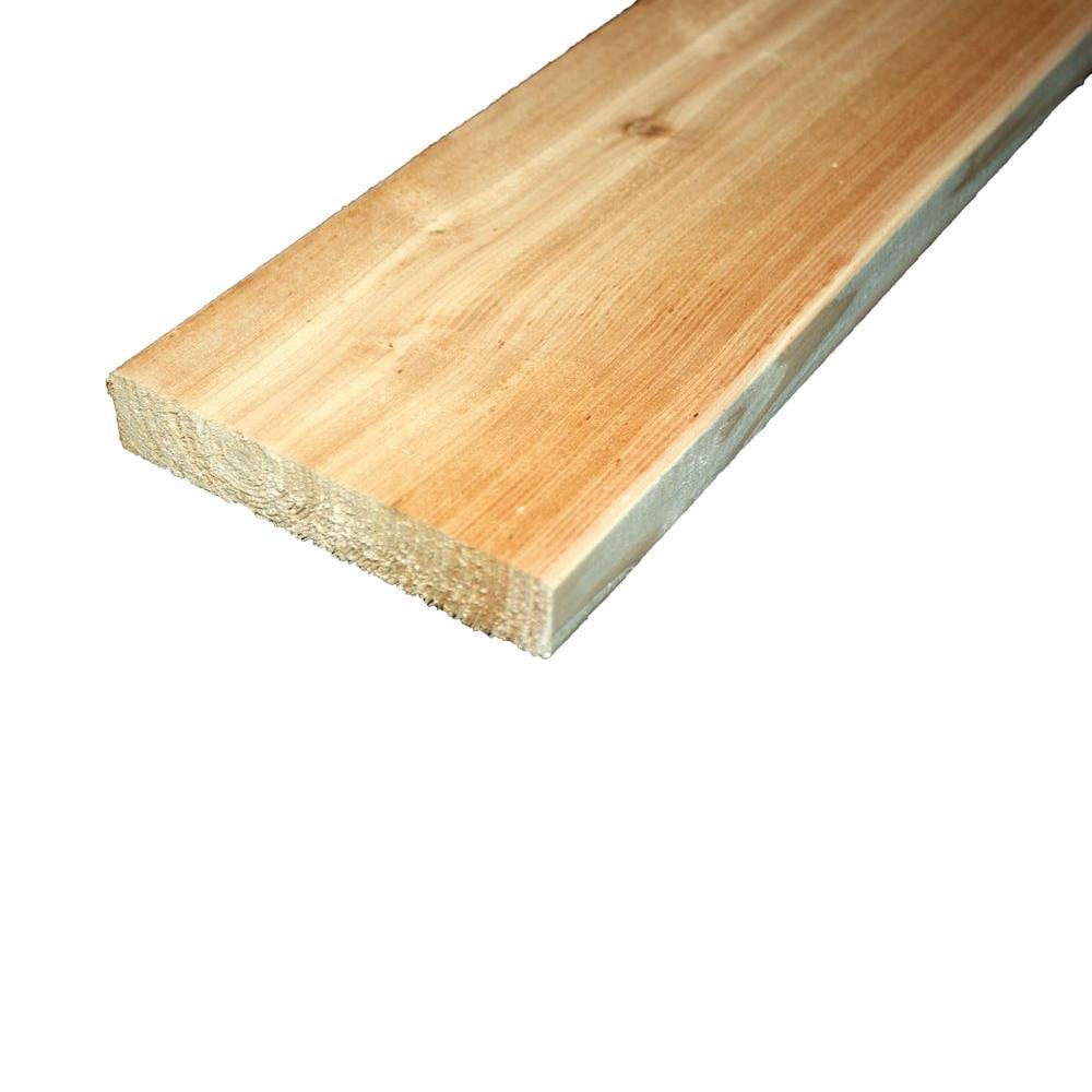 5/4 in. x 6 in. x 10 ft. Premium Radius Edge Cedar Lumber