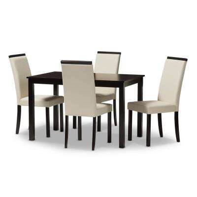 Daveney 5-Piece Cream Dining Set