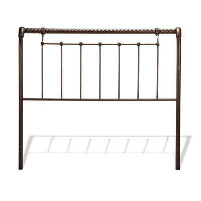 Legion Ancient Gold California King Metal Headboard with Sleigh Design and Twisted Rope Top Rail