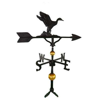 32 in. Deluxe Black Duck Weathervane