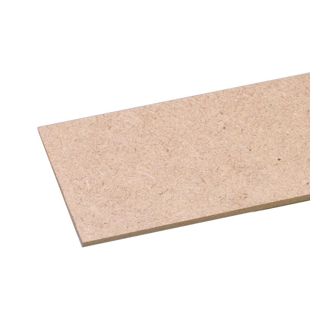 MDF Bender Board (Common: 1/4 in. x 3-3/4 in. x 97 in.; Actual: 0.25 in. x 3.375 in. x 96 in.)