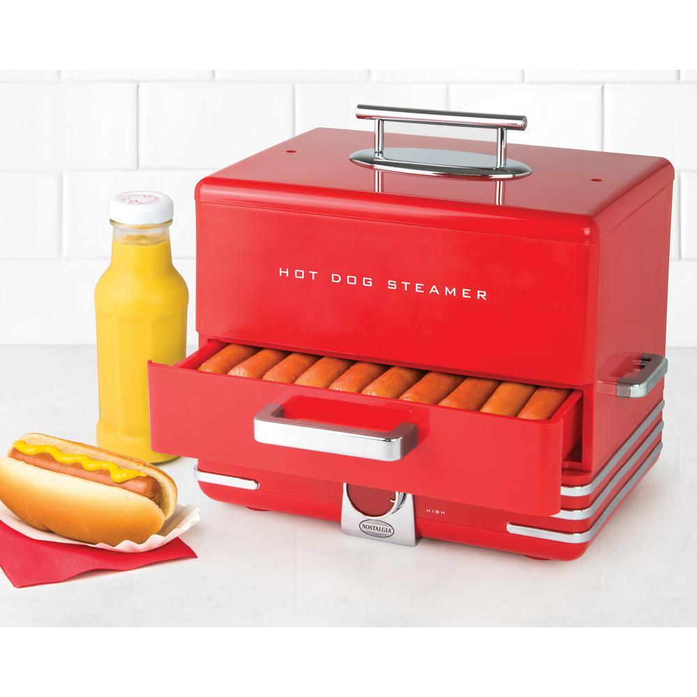 Nostalgia Dinner Style Hot Dog Steamer
