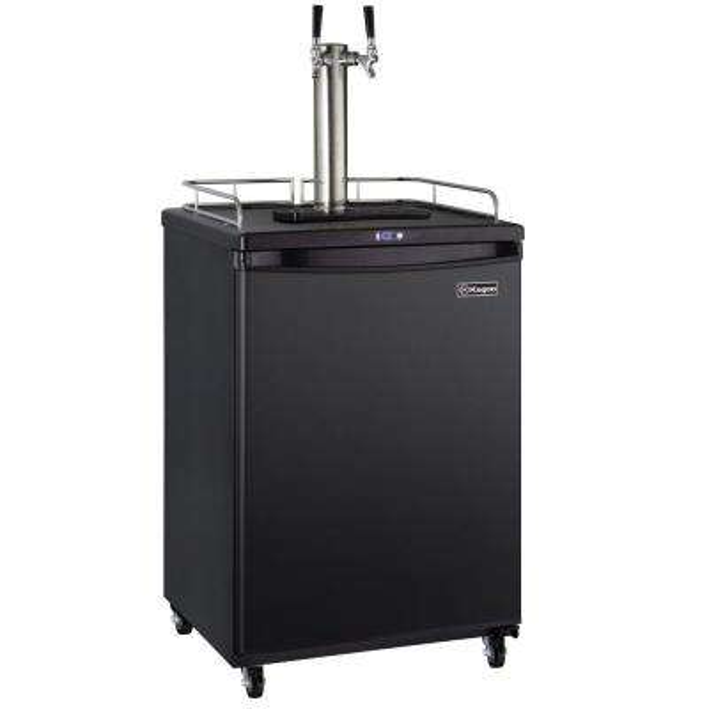 Commercial Grade Digital Double Tap Home Brew Beer Keg Dispenser with Dispense Kit