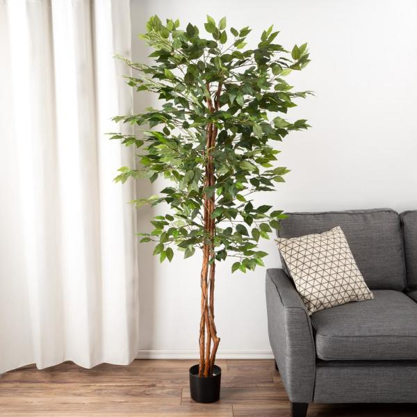 80 in. Potted Artificial Ficus Tree