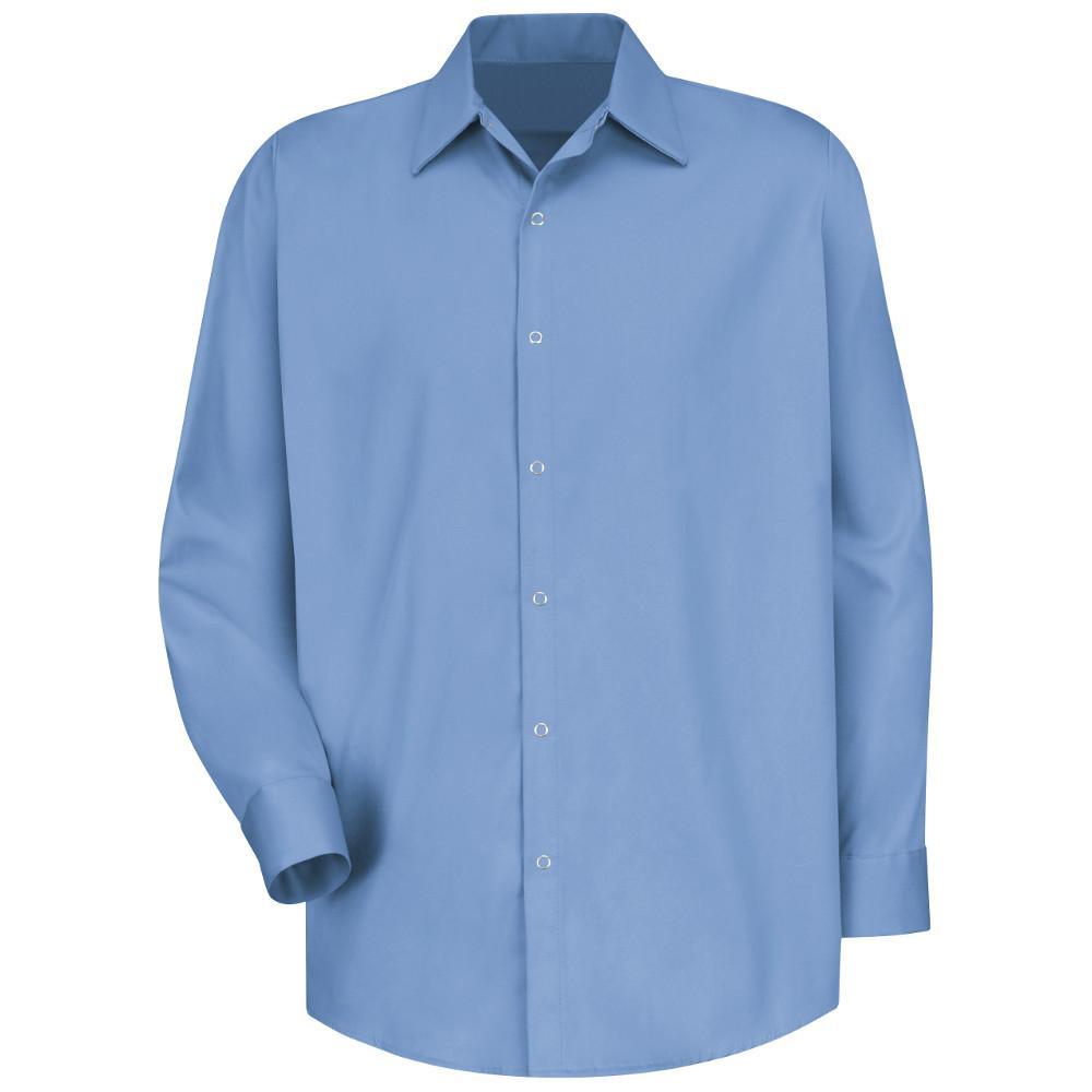 Red Kap Mens Size L Tall Light Blue Specialized Cotton Work Shirt