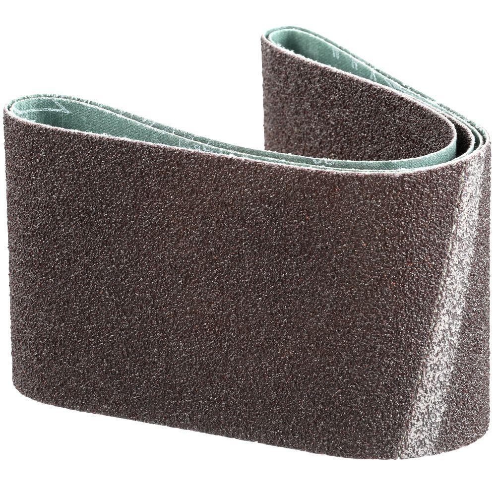 3 in. x 21 in. 40-Grit Abrasive Belt (2-Pack)