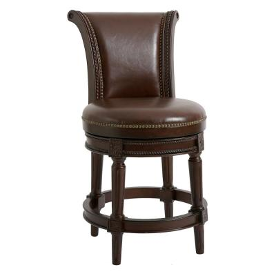 Chapman 39 in. high Brown Counter Heigh Swivel Stool