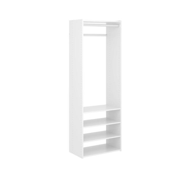 Select 25 in. W Classic White Wood Closet Tower