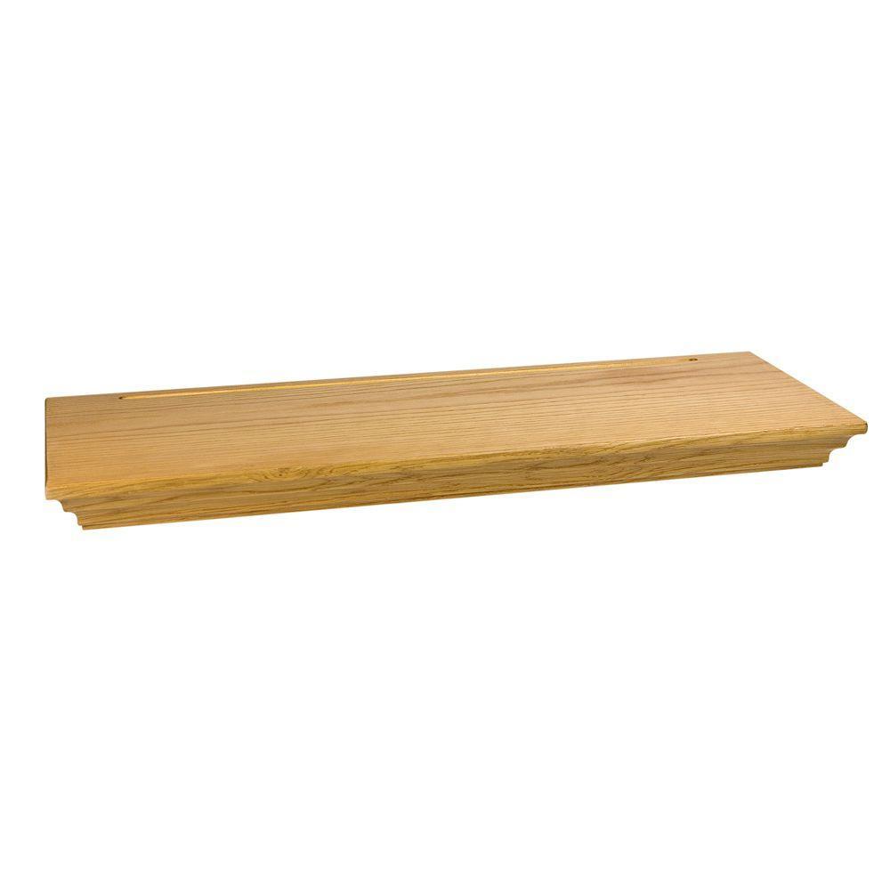 Wood Shelves Home Depot ~ Wallscapes woodridge in floating shelf kit