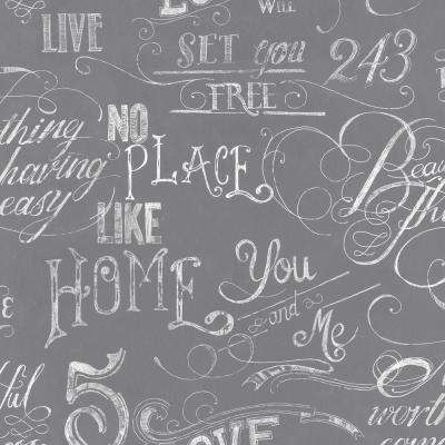 Gray Chalk Board Wallpaper