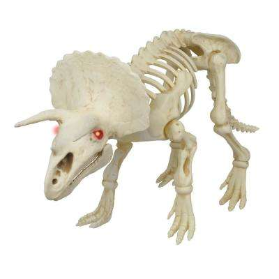 60 in. Animated Triceratops with LED Illuminated Eyes