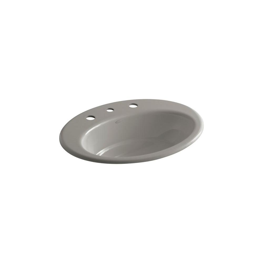 KOHLER Thoreau Drop-in Bathroom Sink in Cashmere-DISCONTINUED