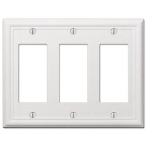 Distressed White Barn Wood Decorative Design Outlet Wall Plate Cover Standard//Midway or Jumbo Size