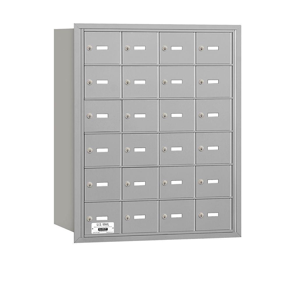 Aluminum USPS Access Rear Loading 4B Plus Horizontal Mailbox with 24A Doors