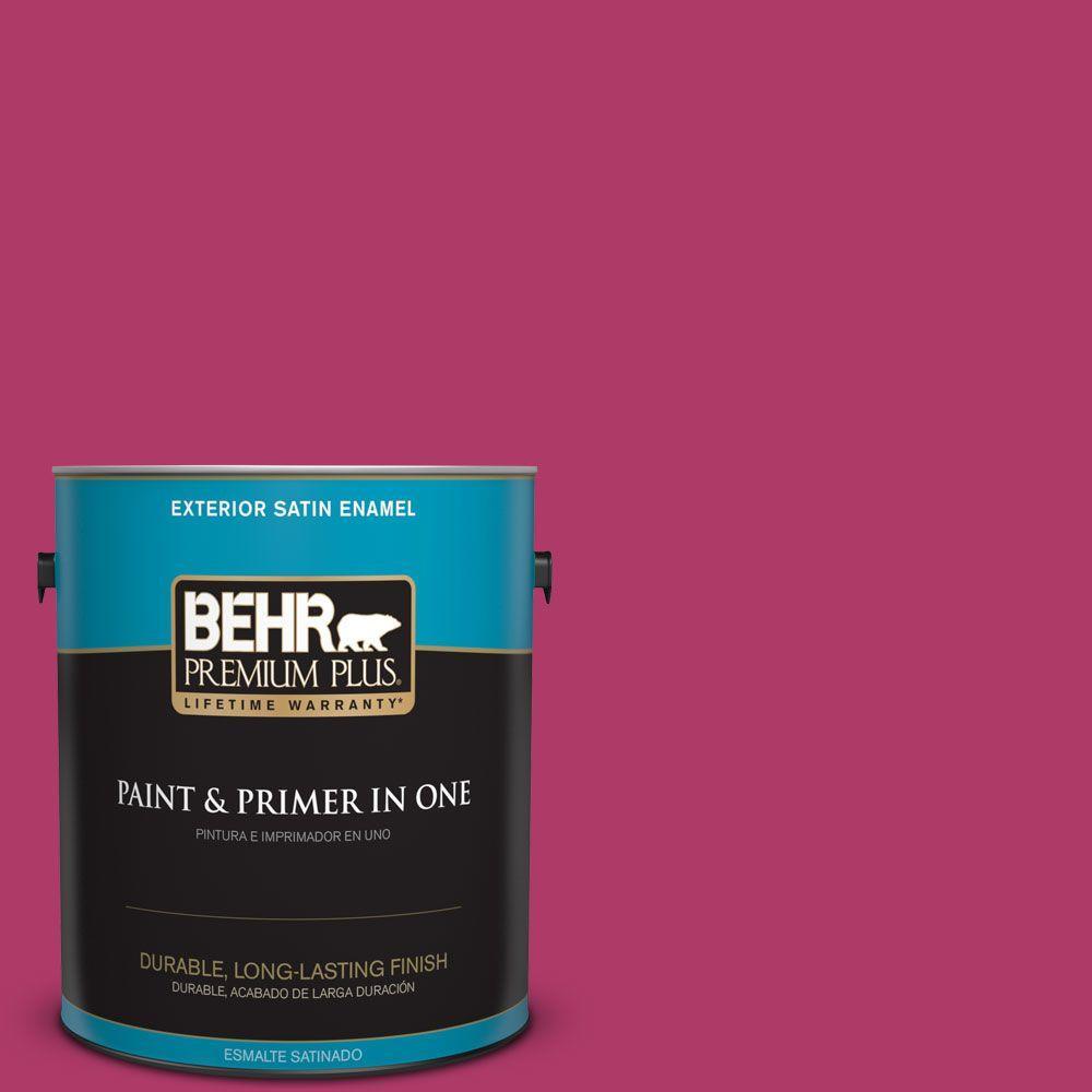 1 gal. #HDC-SM16-04 Bing Cherry Pie Satin Enamel Exterior Paint