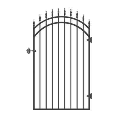 33 in. x 68 in. Diamond Tipped Gate Door with Arched External Rail for 36 in. Door Openings (Hardware Included)