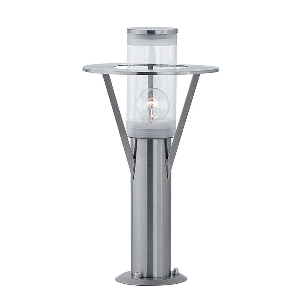 Eglo Belfast 9 In W X 15 75 H 1 Light Stainless Steel Outdoor Path With Clear Gl