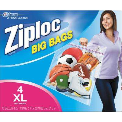 10 gal. XL Plastic Storage Bag with Double Zipper (32-Bag Pack)