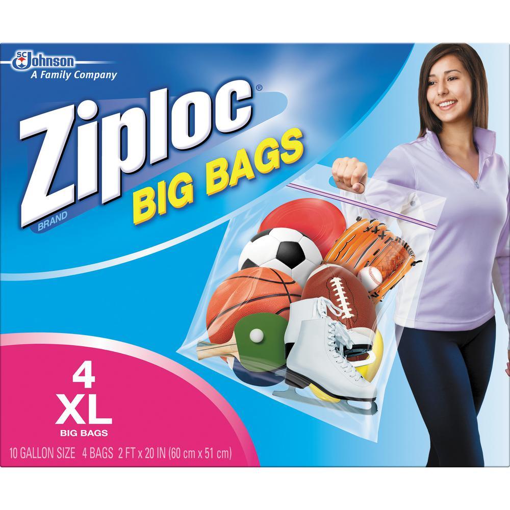 Ziploc 10 Gal Xl Plastic Storage Bag With Double Zipper 32 Pack