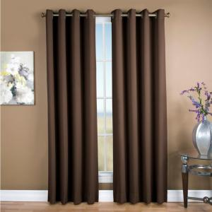 Blackout Ultimate Blackout Polyester Grommet Curtain Panel 56 inch W x 84 inch L Espresso by