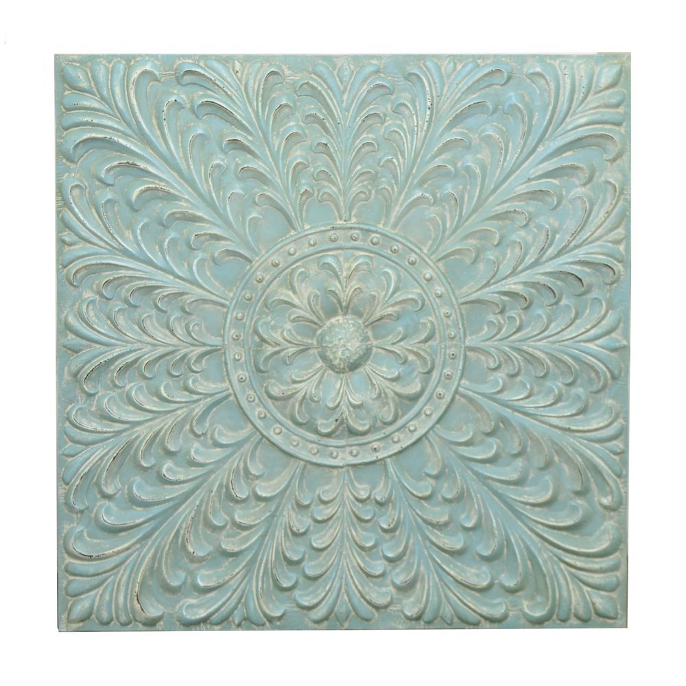 Metal Blue Wall Decoration