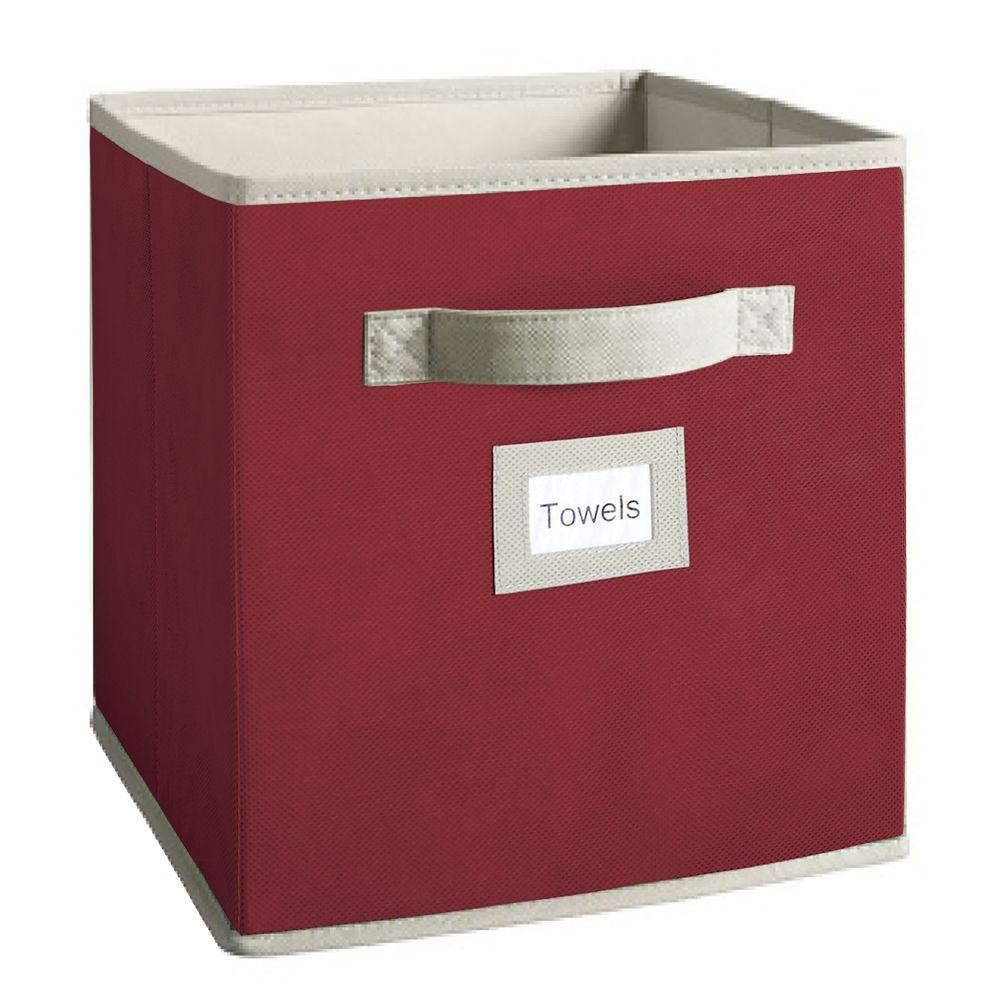 Martha Stewart Living 10-1/2 in. x 11 in. Barn Red Fabric Drawer