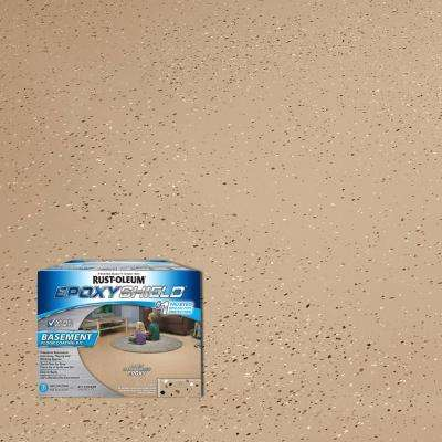 1 gal. Tan Satin Basement Floor Coating Kit (Case of 2)