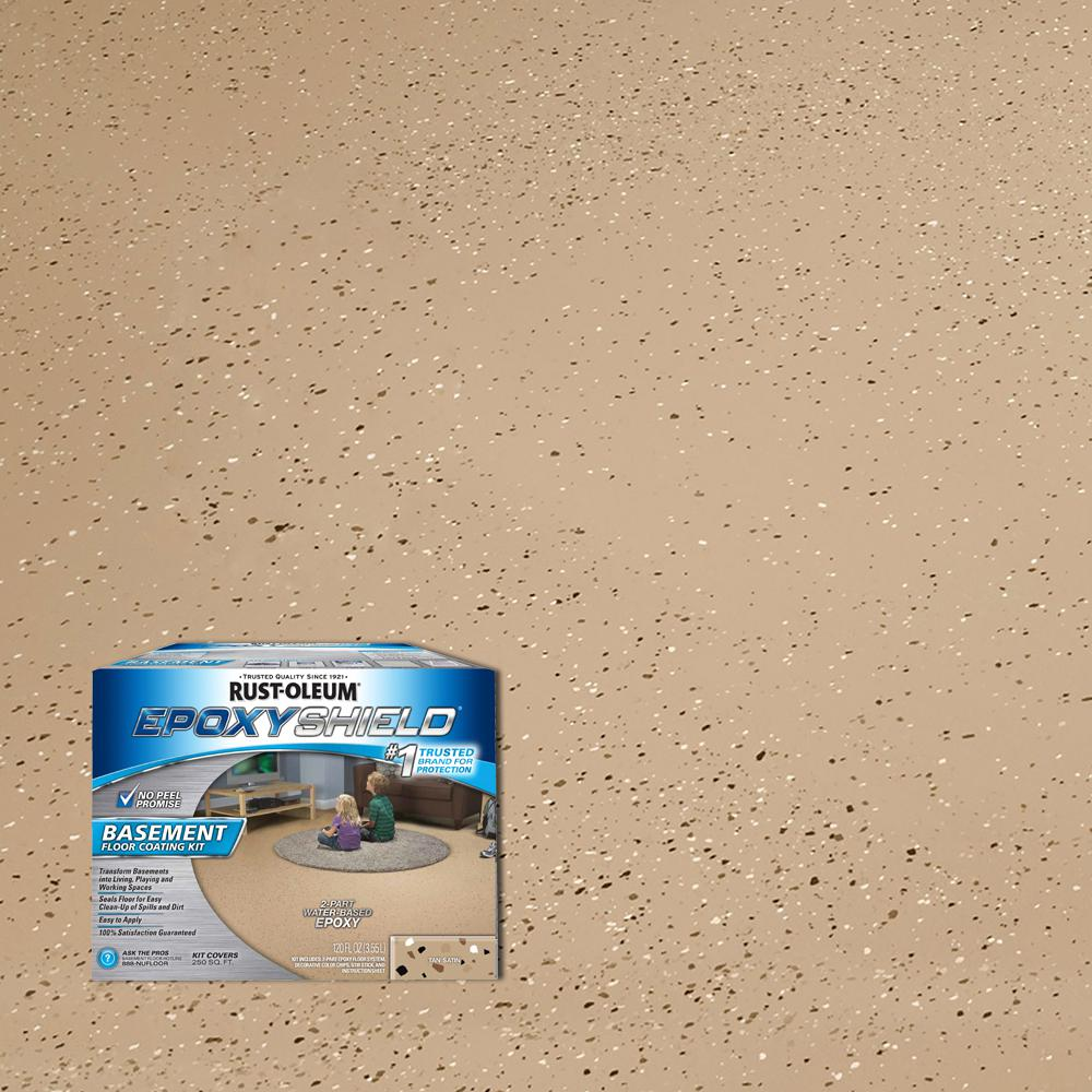 Rust Oleum Epoxyshield 1 Gal Tan Satin