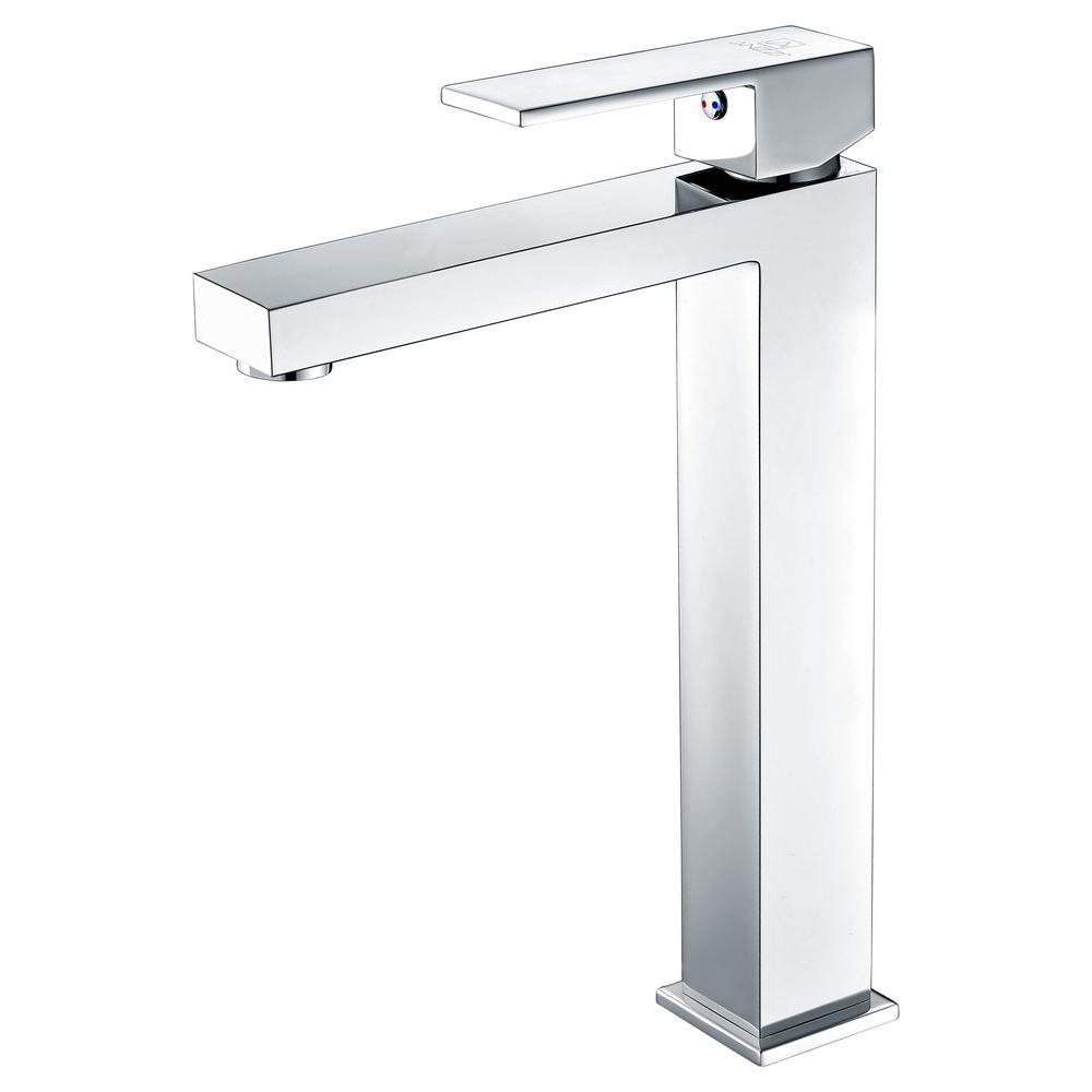 Enti Series Single Hole Single-Handle Vessel Bathroom Faucet in Polished Chrome