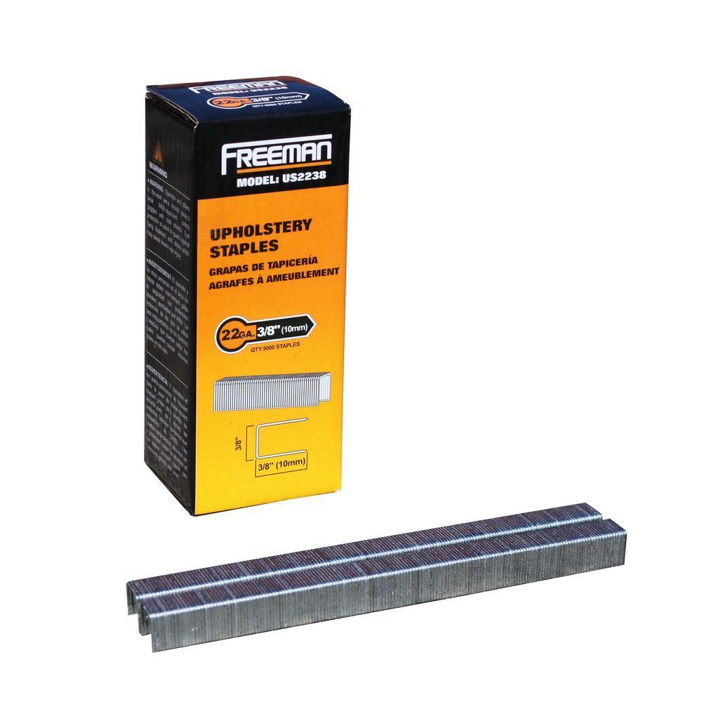 Freeman 22-Gauge 3/8 inch Upholstery Staples (5,000 per Box) by Freeman