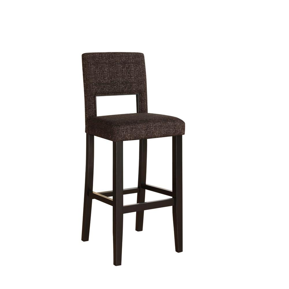 Linon Home Decor Vega 30 in Myrtle Jet Cushioned Bar  : black finish linon home decor bar stools 14054brntw01u 641000 from www.homedepot.com size 1000 x 1000 jpeg 41kB