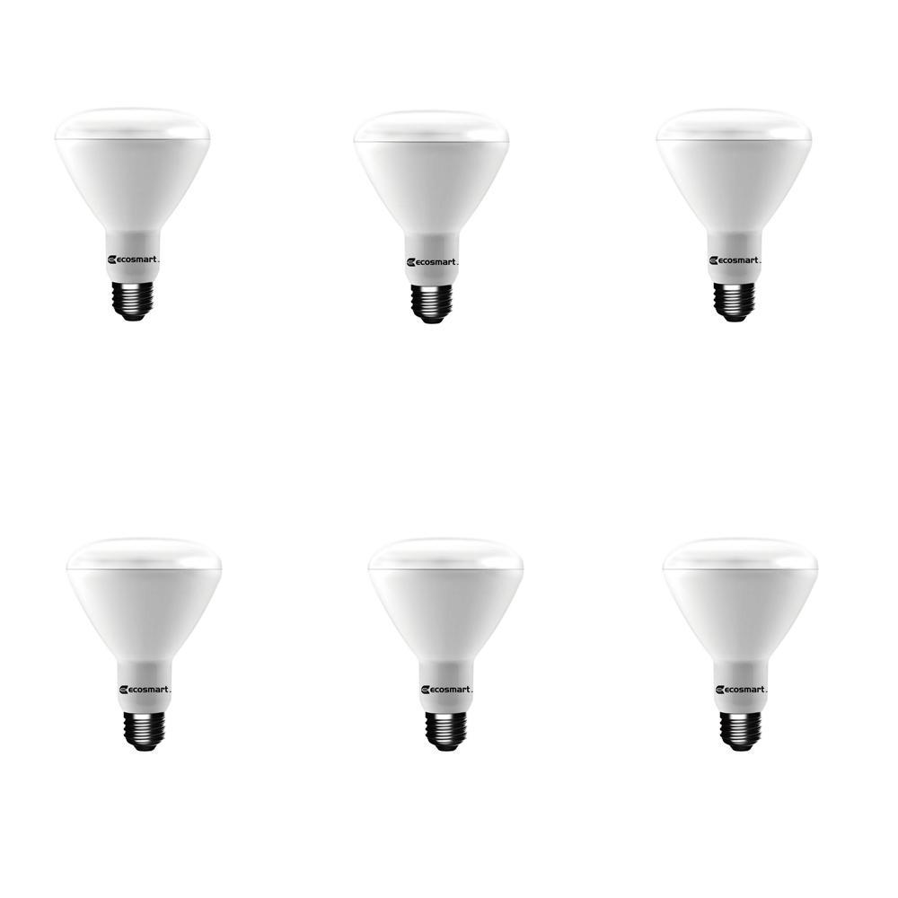 65-Watt Equivalent BR30 Dimmable Energy Star LED Light Bulb Soft White (6-Pack)