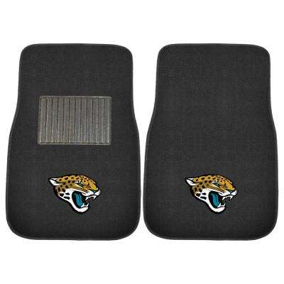 e35f8830 NFL - Jacksonville Jaguars 17 in. x 25.5 in. 2-Piece Set of Embroidered Car  Mat
