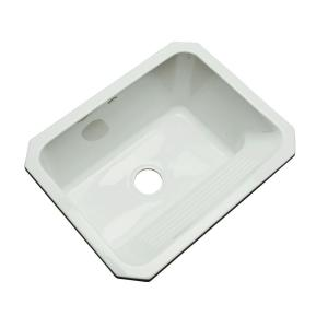 Thermocast Kensington Undermount Acrylic 25 inch Single Bowl Utility Sink in Ice Grey by Thermocast