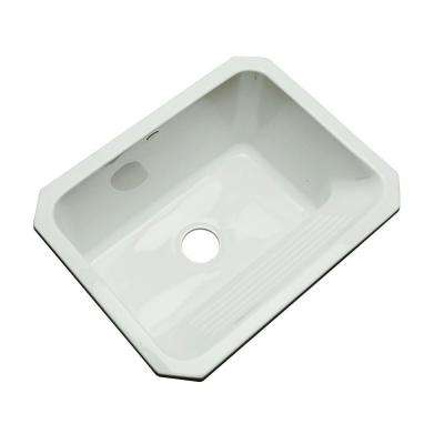 Kensington Undermount Acrylic 25 in. Single Bowl Utility Sink in Ice Grey