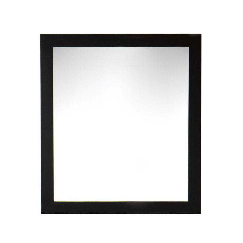 Home Decorators Collection Venisia 33-1/2 in. L x 30 in. W Wall Mirror in Black/Ebony-DISCONTINUED