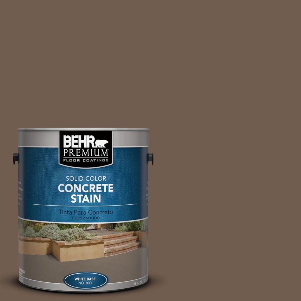 BEHR Premium 1 gal. #PFC-35 Rich Brown Solid Color Concrete Stain
