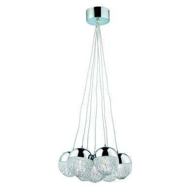 Sonnet Collection 7-Light Chrome Hanging Pendant