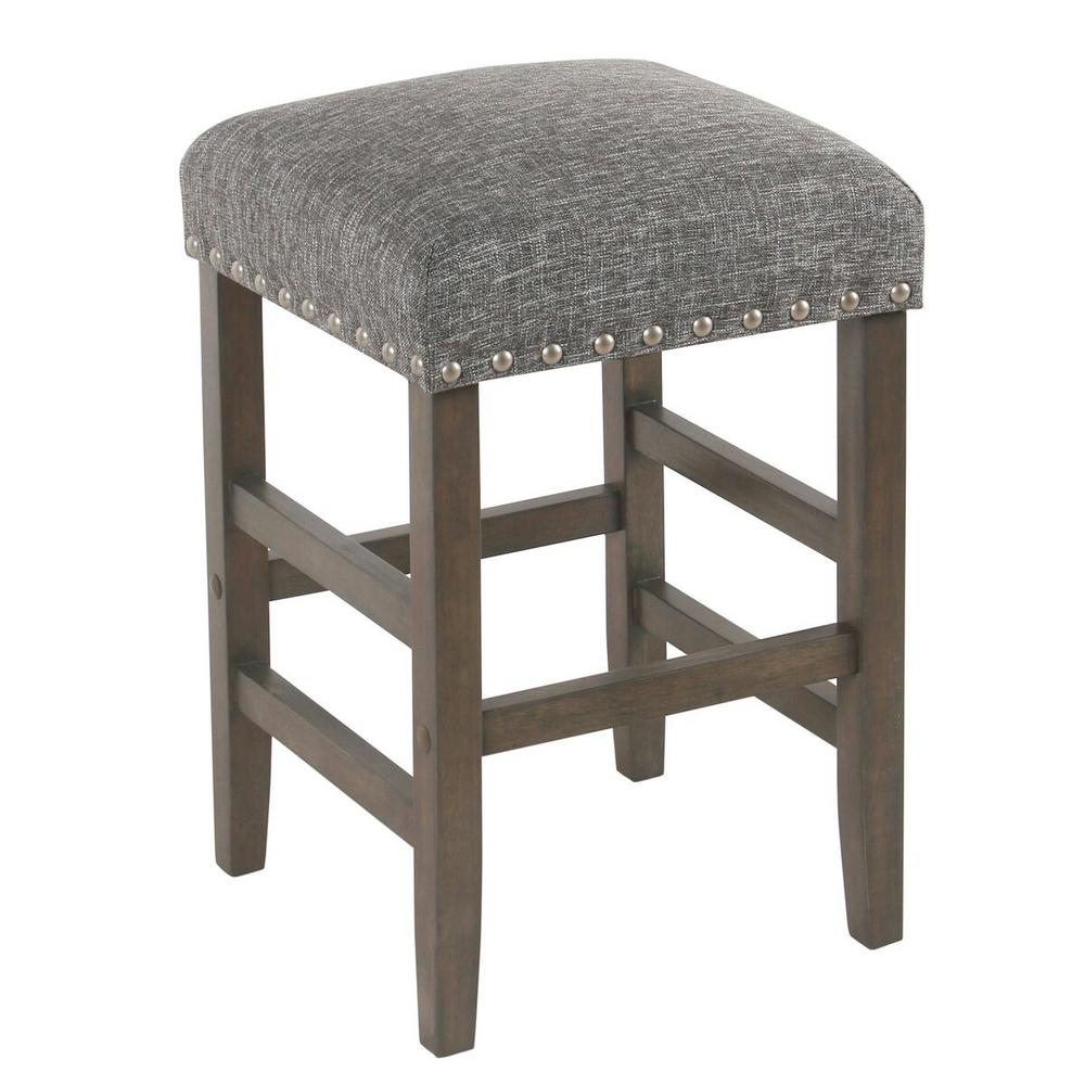 Homepop open backless 24 in indigo bar stool k7734 24 f2182 the home depot