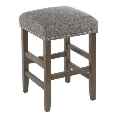 Open Backless 24 in. Indigo Bar Stool