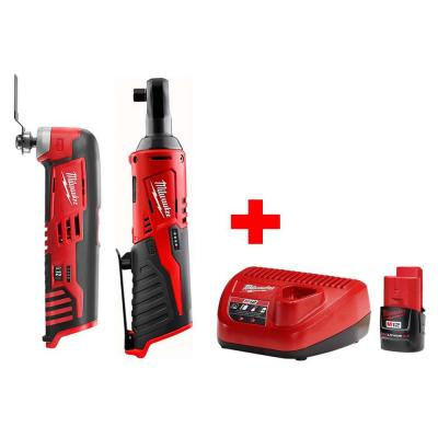 M12 12-Volt Lithium-Ion Cordless 3/8 in. Ratchet Multi-Tool Combo Kit with (1) 2.0Ah Battery and Charger
