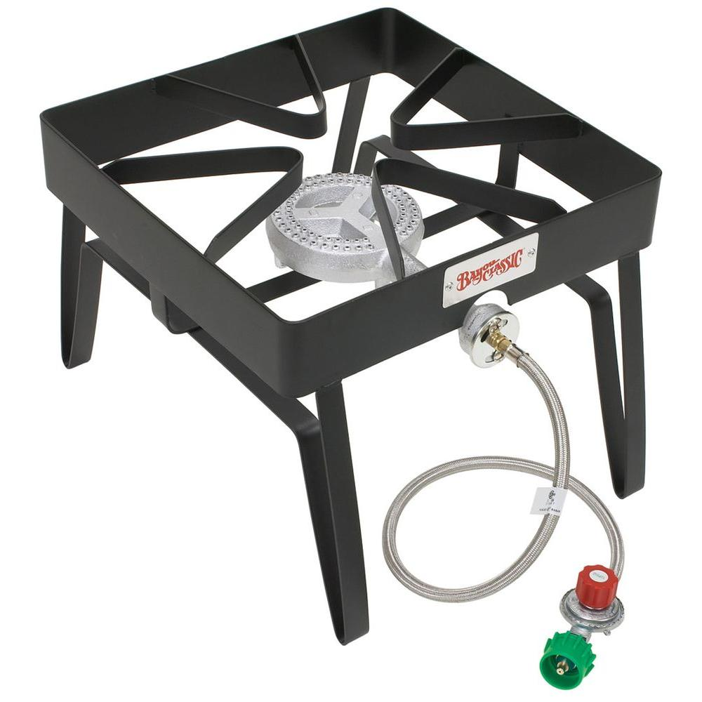 bayou classic btu propane gas single burner outdoor stove