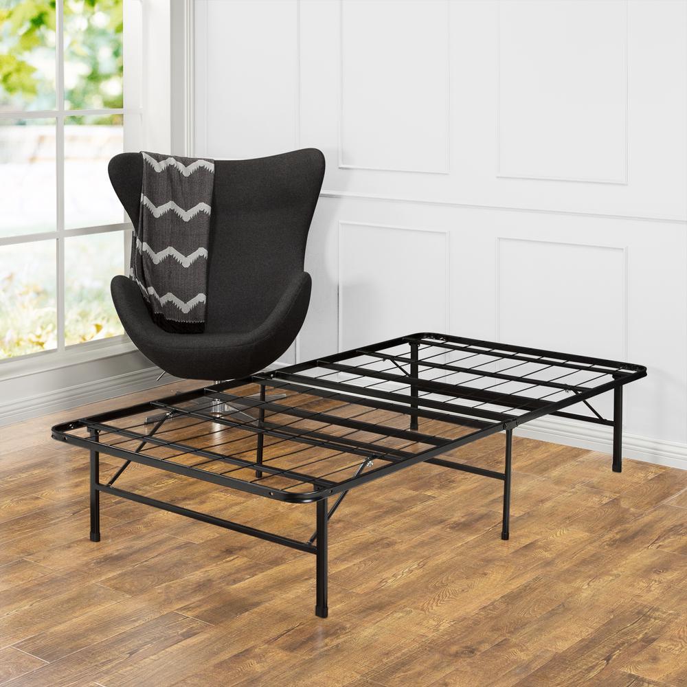 Zinus SmartBase Queen Metal Bed Frame-HD-SBBK-14Q-FR - The Home Depot